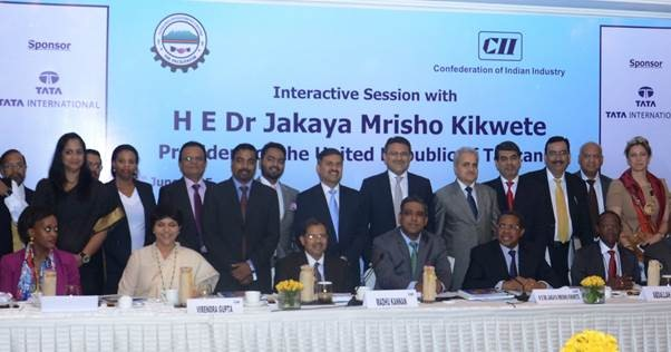 til-hosts-ceos' roundtable-with-the-president-of-tanzania-organised-by-cii-in-delhi